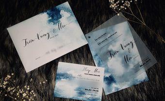 Ca sĩ MiA khoe thiệp cưới màu nước tone xanh lạ mắt - Blog Marry