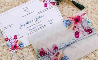 Độc đáo thiệp cưới bằng nhựa trong in họa tiết bắt mắt - Blog Marry