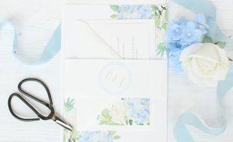 Thiệp cưới hoa cẩm tú cầu tinh tế được lòng cô dâu trẻ - Blog Marry