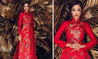 4 lý do cô dâu nên lựa chọn áo dài cưới gấm trong ngày trọng đại - Blog Marry