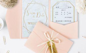 7 mẫu thiết kế thiệp mời đám cưới với họa tiết đá cẩm thạch - Blog Marry