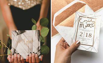 Băt trend thiệp cưới hình học dành cho mùa cưới 2020 - Blog Marry