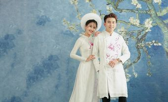 10 mẫu áo dài cưới trắng đơn giản cho cô dâu thanh lịch - Blog Marry