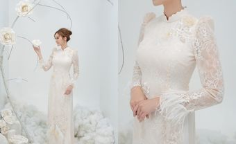 9mẫu áo dài cưới đẹp đơn giản cho các cô dâu nhẹ nhàng, nữ tính - Blog Marry