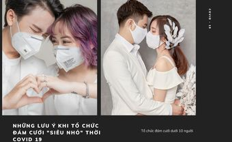 """Những lưu ý khi tổ chức đám cưới """"siêu nhỏ"""" thời COVID 19 - Blog Marry"""