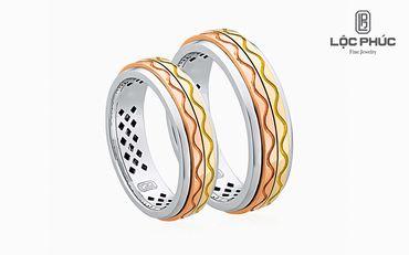 Nhẫn cưới Rolling Love - W2B.LPW0049R - Công ty Cổ phần Vàng Bạc Đá Quý Lộc Phúc - Hình 1