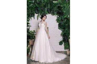 Váy dáng A tay lỡ cổ tròn, màu hồng - Caroll Trần Design - Hình 3