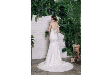 Váy đuôi cá lệch vai đính hoa vai & eo - Caroll Trần Design - Hình 3