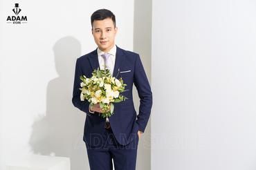 Vest cưới xanh kẻ chỉ tím - Adam Store - Hình 2
