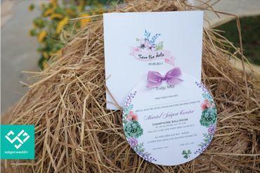Saigon Wedding - Thiệp cưới đẹp hoa dáng tròn dễ thương - Saigon Wedding - Thiệp cưới - Hình 1
