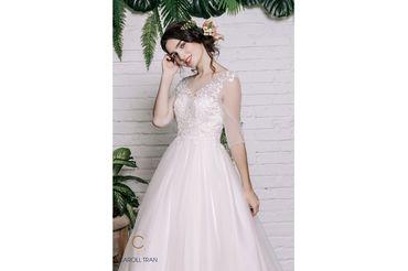 Váy dáng A tay lỡ cổ tròn, màu hồng - Caroll Trần Design - Hình 4