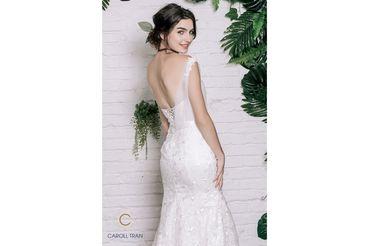 Váy đuôi cá lệch vai đính hoa vai & eo - Caroll Trần Design - Hình 5