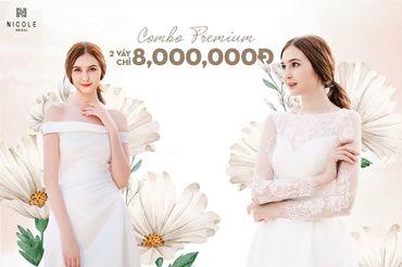 COMBO THUÊ TRANG PHỤC CƯỚI - Váy cưới Nicole Bridal - Hình 1