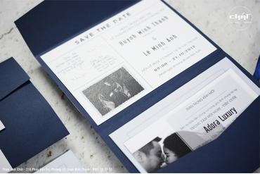 Thiệp Pocket Fold - Thiệp cưới Chất - Hình 1