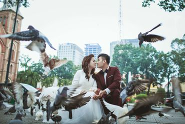 Trọn gói Album cưới ngoại cảnh Sài Gòn ngày và đêm - Hệ thống cửa hàng dịch vụ ngày cưới ALEN - Hình 15