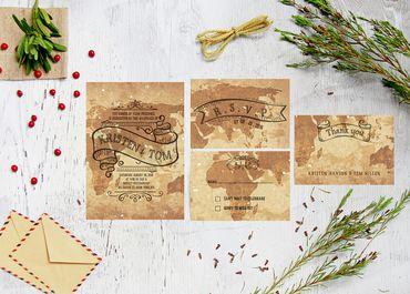Thiệp cưới thiết kế - 99Merci - Hình 1