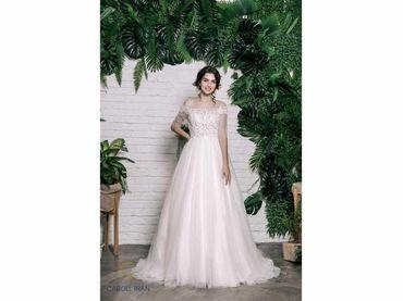 Váy cổ tròn tay lỡ đắp ren tay ngang - Caroll Trần Design - Hình 2