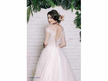 Váy cổ tròn tay lỡ đắp ren tay ngang - Caroll Trần Design - Hình 3