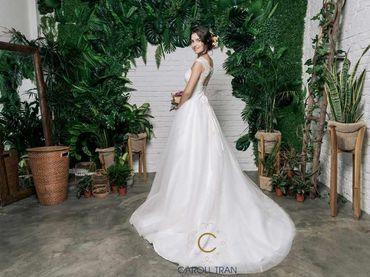 Váy chân bồng viền chân voan tay ngang - Caroll Trần Design - Hình 4