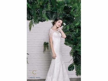 Váy đuôi cá cổ thuyền tay ngắn - Caroll Trần Design - Hình 3