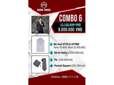 Bộ Vest D&T Italia Cao Cấp 70% Wool - MON AMIE: Veston - Suit - Tuxedo - Hình 1