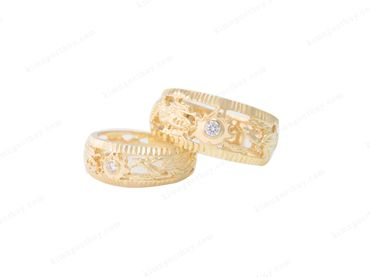 Nhẫn cưới Rồng Phụng - Nhẫn Cưới Kim Ngọc Thủy - Hình 4