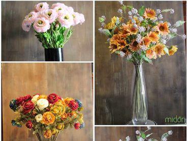 Hoa vải cao cấp - Midori Shop - Phụ kiện trang trí ngành cưới - Hình 17