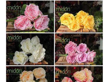 Hoa vải cao cấp - Midori Shop - Phụ kiện trang trí ngành cưới - Hình 23