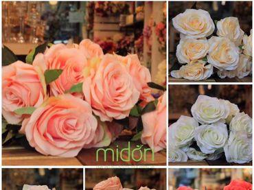 Hoa vải cao cấp - Midori Shop - Phụ kiện trang trí ngành cưới - Hình 7