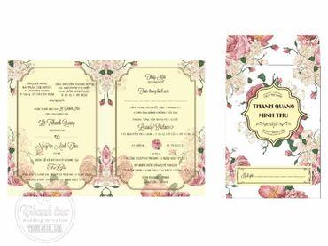 Thiệp hoạ tiết in hoa - Thiệp cưới Thanh Trúc - Thiệp Cưới Thiên Ân - Hình 2