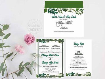 Thiệp hoạ tiết in hoa - Thiệp cưới Thanh Trúc - Thiệp Cưới Thiên Ân - Hình 3