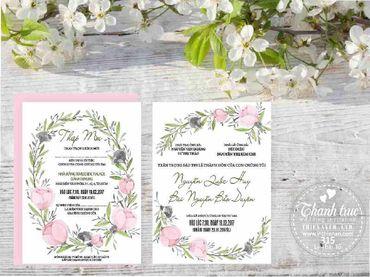 Thiệp hoạ tiết in hoa - Thiệp cưới Thanh Trúc - Thiệp Cưới Thiên Ân - Hình 7