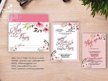 Thiệp hoạ tiết in hoa - Thiệp cưới Thanh Trúc - Thiệp Cưới Thiên Ân - Hình 5
