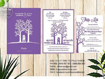 Thiệp hoạ tiết in hoa - Thiệp cưới Thanh Trúc - Thiệp Cưới Thiên Ân - Hình 4