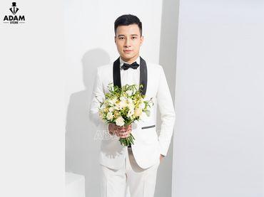 Vest cưới trắng cổ sam - Adam Store - Hình 1