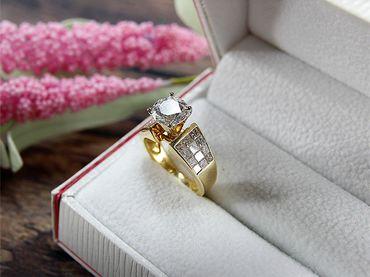 Nhẫn cầu hôn kim cương SKU 101810 HP USA - Hưng Phát USA - Hình 1