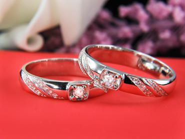 Nhẫn cưới kim cương D10216 HP USA - Hưng Phát USA - Hình 1