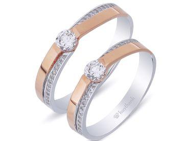 Nhẫn cưới La Nuit NC 302 - Huy Thanh Jewelry - Hình 1