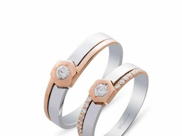 Nhẫn cưới La Nuit NC 410 - Huy Thanh Jewelry - Hình 1
