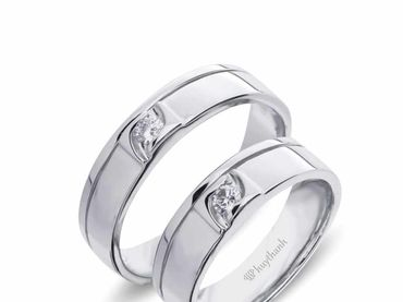 Nhẫn cưới Le Soleil NC 356 - Huy Thanh Jewelry - Hình 1