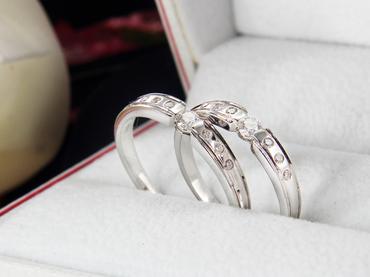 Nhẫn cưới kim cương D10162 HP USA - Hưng Phát USA - Hình 1