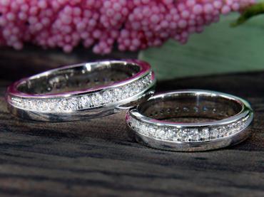 Nhẫn cưới kim cương D10195 HP USA - Hưng Phát USA - Hình 1