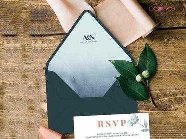 Thiệp cưới Thiết kế - Peonies - Thiệp cưới Thiết kế - Hình 2