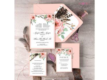 Thiệp cưới Thiết kế - Peonies - Thiệp cưới Thiết kế - Hình 1