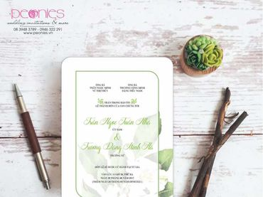 Thiệp cưới Thiết kế - Peonies - Thiệp cưới Thiết kế - Hình 6