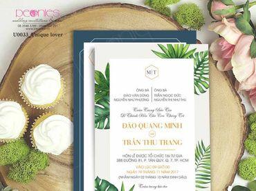 Thiệp cưới Thiết kế - Peonies - Thiệp cưới Thiết kế - Hình 4