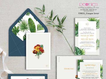 Thiệp cưới Thiết kế - Peonies - Thiệp cưới Thiết kế - Hình 5