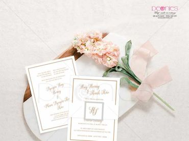 Thiệp cưới Thiết kế - Peonies - Thiệp cưới Thiết kế - Hình 3