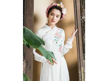 Trọn bộ áo dài tinh khiết - Áo Dài Nhà Mốt Moda Casa - Hình 1