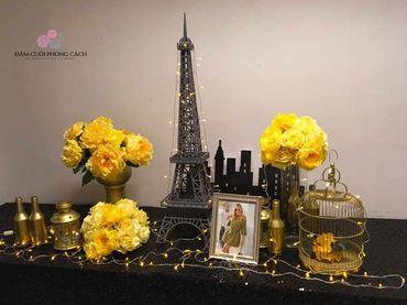 Bàn Gallery chủ đề Paris, Anh Yêu Em - Tự Trang Trí Đám Cưới - Hình 1